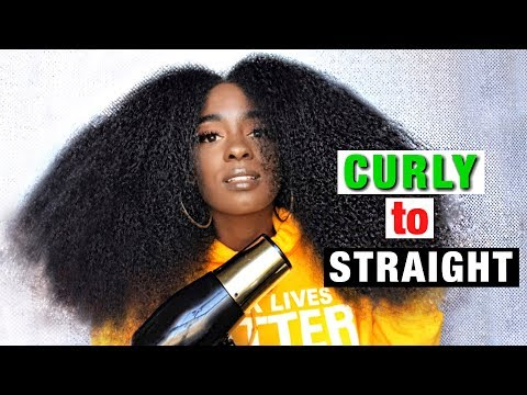 CURLY to STRAIGHT natural hair pt.1 | alexuscrown