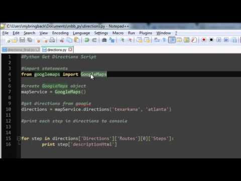 Learn Python Programming Tutorial 24   Getting Directions Google Maps API pt1