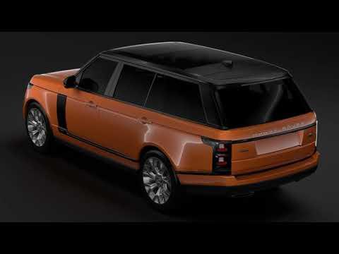 3D Model of Range Rover HSE Td6 LWB L405 2018