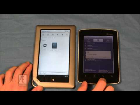 Kyobo Mirasol eReader VS Nook Tablet