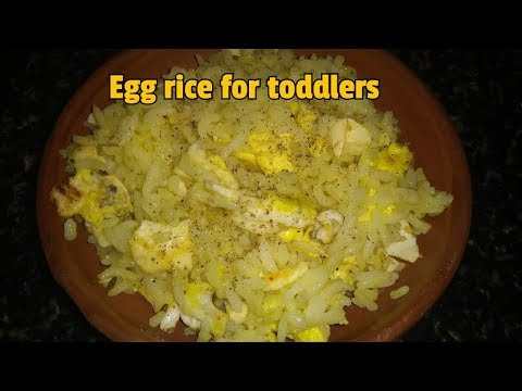 egg rice for toddlers | lunch ideas for kids