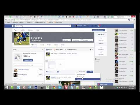 Creating a Facebook page for you sports club or association and adding administrators