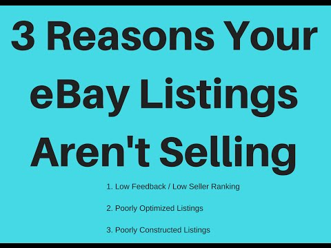 3 Reasons Your eBay Items Aren't Selling With Examples & Solutions