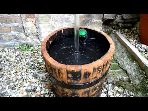 Magictap.co.uk DAYTIME OAK BARREL  Magictap® garden water feature