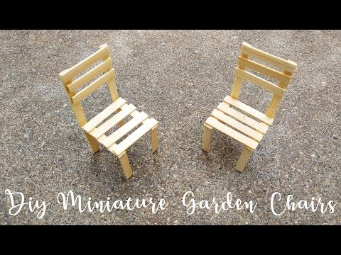 DIY Miniature Garden chairs | Beach chairs