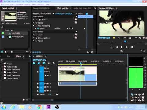 How to make Slow Motion Time Remapping Effect in Adobe Premiere Pro CC 2015