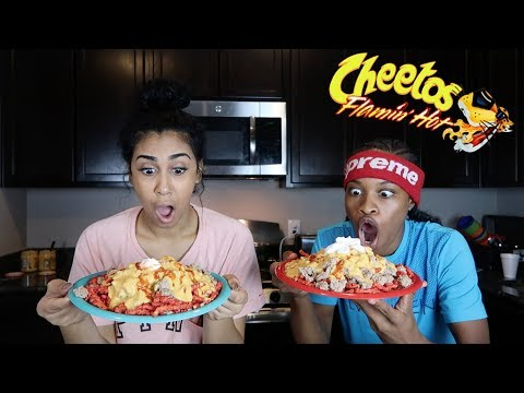 HOW TO MAKE HOT FLAMIN HOT NACHOS!!!! FEAT. QUEEN From Chris And Queen!!