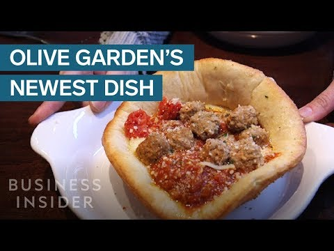 We Tried Olive Garden's New Meatball Pizza Bowl