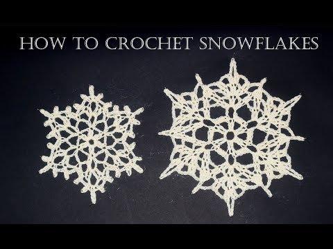 How To Crochet Snowflakes   Easy Tutorial