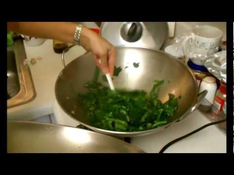 Teresa's Salmon and Malabar Spinach :)