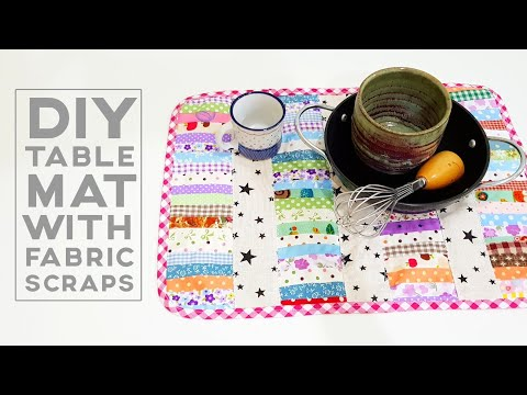 Fabric scraps projects   Patchwork for beginners   拼布教学分享 ❤❤