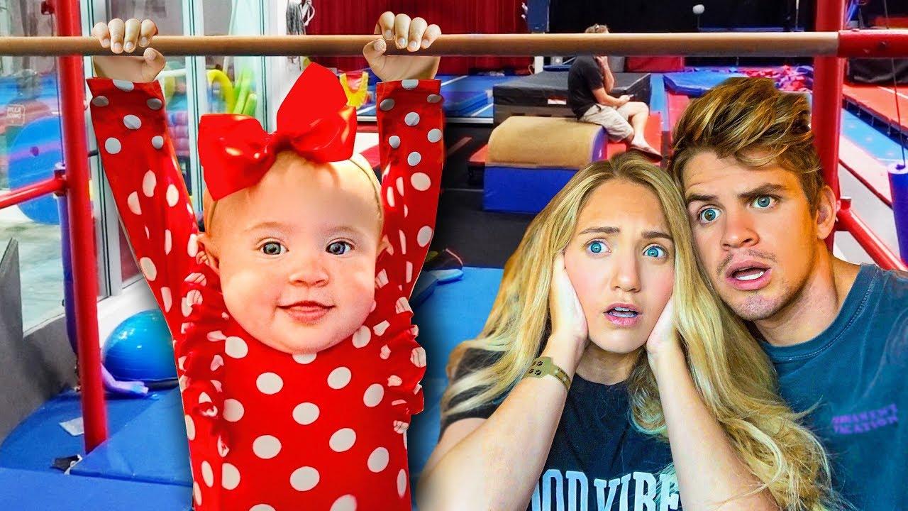 6 Month Old Posie's First Gymnastics Class!!!