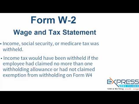 IRS W-2 Form, Wage and Tax Statement - ExpressTaxFilings