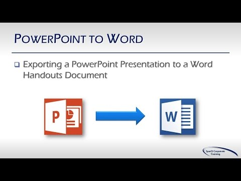 Office Integration -  Part 4b -  PowerPoint to Word