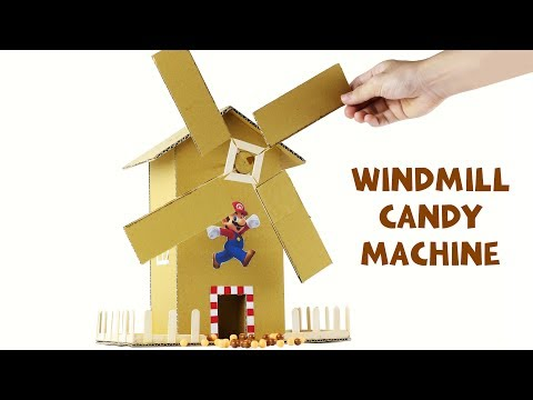 How to Make Windmill Candy Machine at home - Just5mins