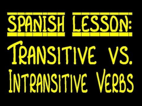 Transitive vs. Intransitive Verbs