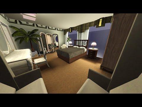 The Sims 3 LIVE! Building/Decorating a Bunker House - Part 15 Art Deco Ensuite