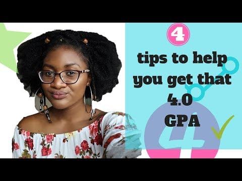 4 Tips to getting a 4.0 GPA in College