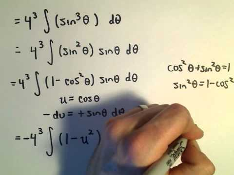 Trigonometric Substitution - Example 1