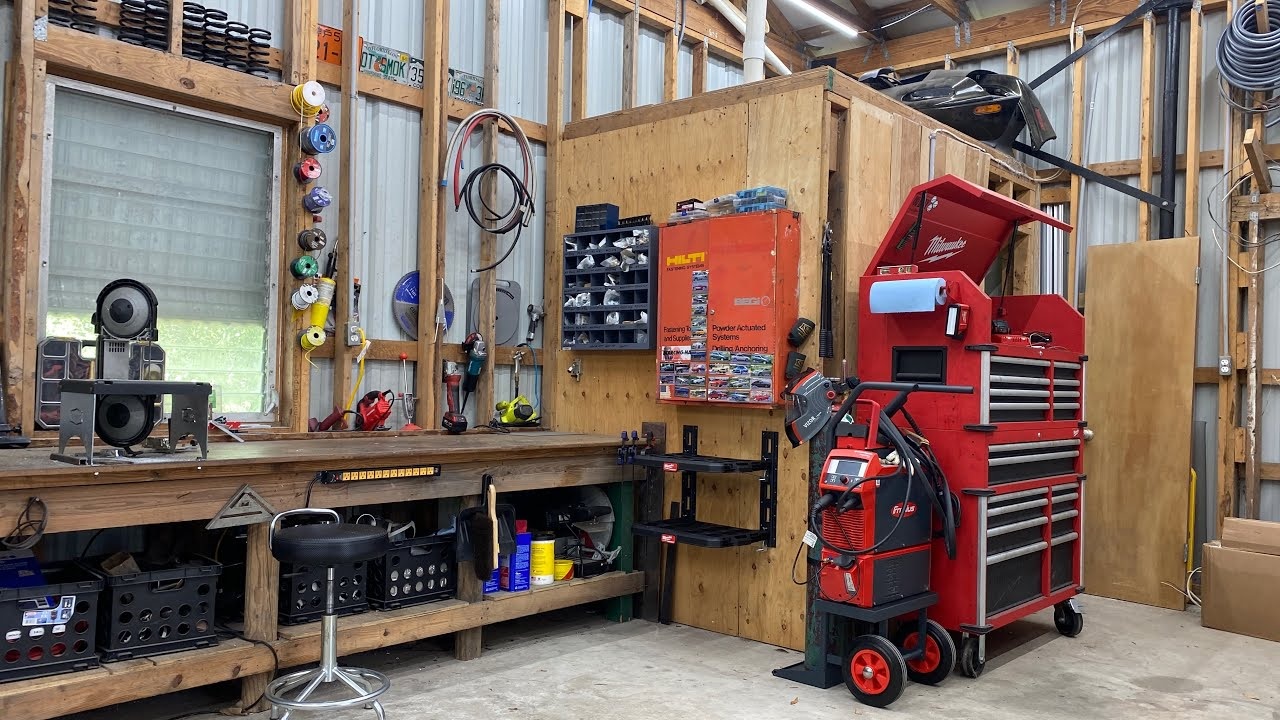More shop upgrades. New equipment and storage setup
