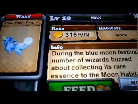 How to breed Blue moon dragon in Dragonvale - RDG