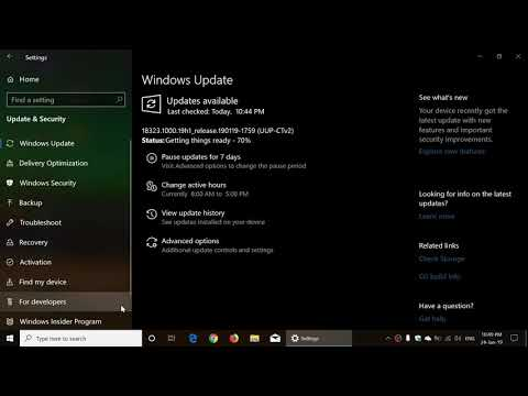 Windows 10 Insider preview build 18323 released January 24th 2019