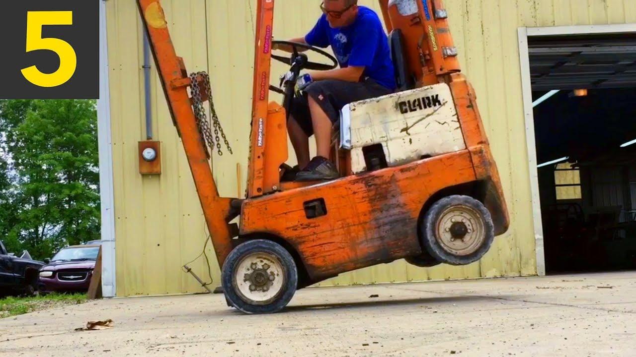 Top 5 Amazing Forklift Tricks