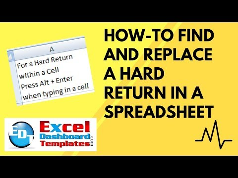 How-to Find and Replace a Hard Return in an Excel Spreadsheet