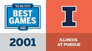 2001 Illinois at Purdue | Big Ten Football | The Big Ten
