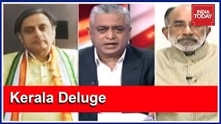 Kerala Fights Flood Beyond Political Differences : Tharoor & KJ Alphons   News Today With Rajdeep