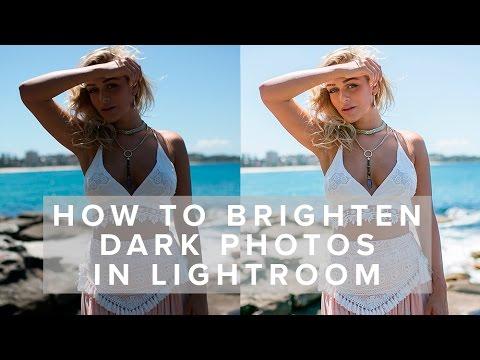 How to Brighten Dark Photos in Lightroom // tutorial