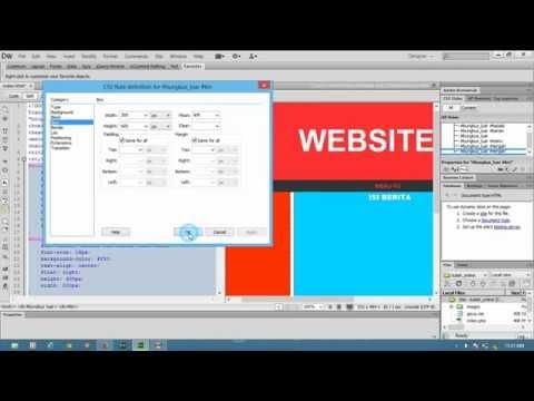 Belajar Membuat Template WEB Menggunakan Adobe Dreamweaver CS6- HTML & CSS (#anangaoSTUDIO)