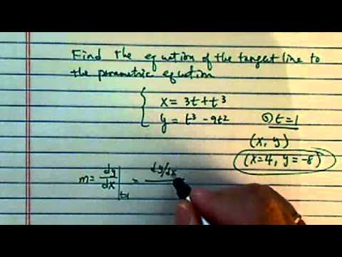 *how to find find the  tangent to the parametric curve