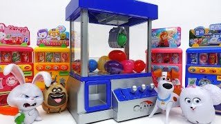 Secret Life of Pets and Claw Machine Game~! Trolls Mini Figures Surprise Eggs