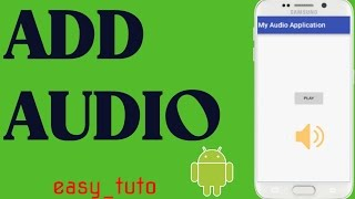 Audio/Music in Android App  | Android Studio Tutorial (Beginners) HD | All About Android