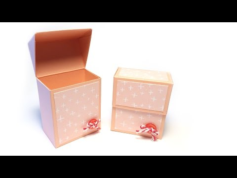 Elegant Fold Over Lid Box Tutorial