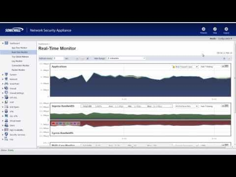 Real-Time Bandwidth Monitoring with a SonicWALL