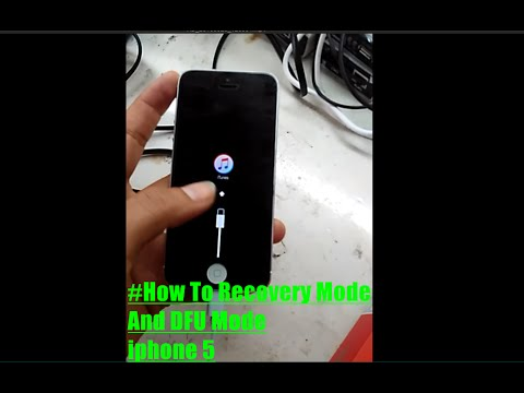 How to enter Recovery Mode and DFU mode iphone 5