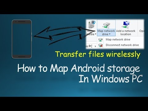 How to Map Android Storage as a Network Drive in Windows PC wirelessly | Hindi