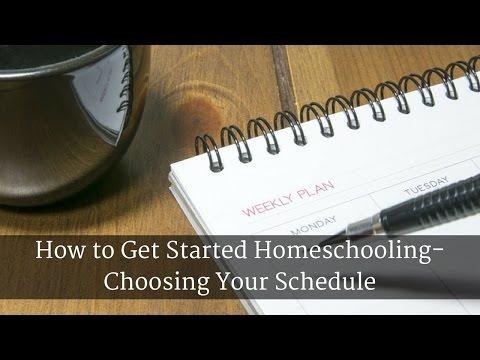 How to Get Started Homeschooling- Choosing Your Schedule