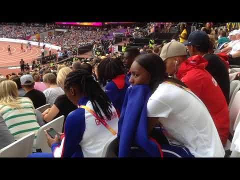 Day 9 London 2017. IAAF World Championships. Relay heats, Usain Bolt, Dina Asher Smith.