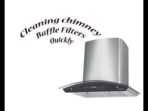 How to clean chimney baffle filters without chemicals