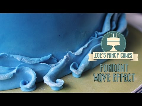 How to make a fondant wave effect on a cake How To Tutorial
