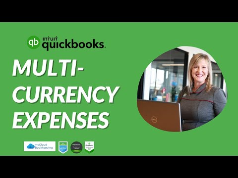 Multi Currency Suppliers and Credit Cards in QuickBooks Online