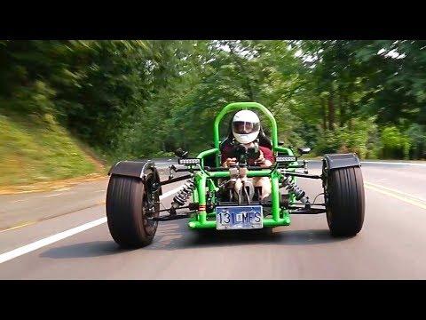 How is this Ninja 900R-powered custom trike even legal?!