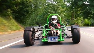 How is this Ninja 900R-powered custom trike even legal?!