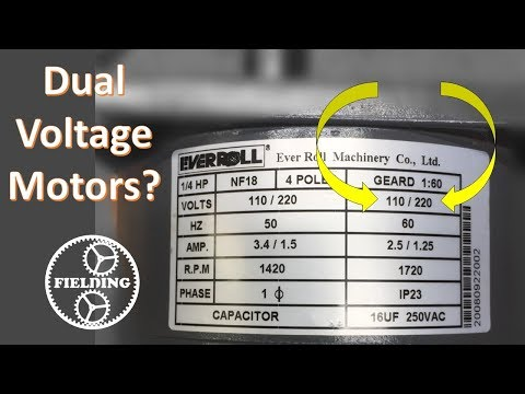 Dual Voltage Motors, How They Work, And Wiring Them Without The Wire Labels. #62.