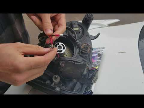 Led headlight upgrade blob-eye WRX/RS