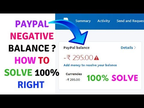Paypal Negative Balance:-  How to Solve 100% Right