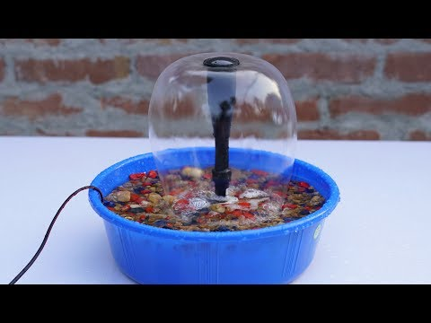 How to Make Tabletop Water  Fountain ( It's Amazing )